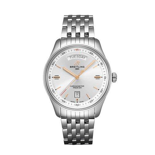 Breitling Premier Day & Date Stainless Steel Bracelet Watch - Product number 2923750
