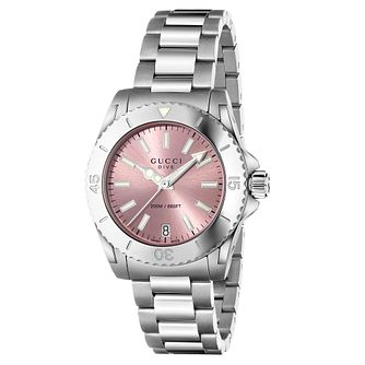 Gucci Dive ladies' pink dial stainless steel bracelet watch - Product number 2926164