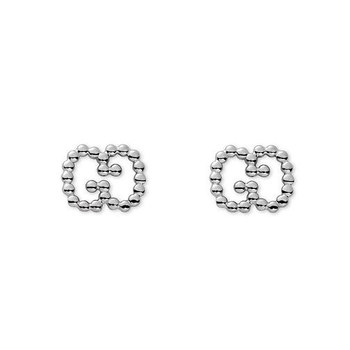 adbe590cc3c Gucci Boule sterling silver GG studs YBD390995001 - Ernest Jones