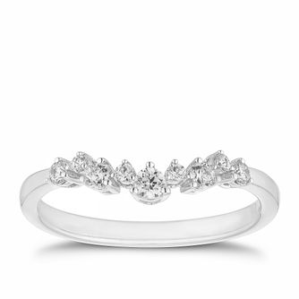 9ct White Gold 1/5ct Diamond Shaped Ring - Product number 2928744