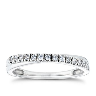 9ct White Gold 1/10ct Diamond Sweepover Ring - Product number 2929473