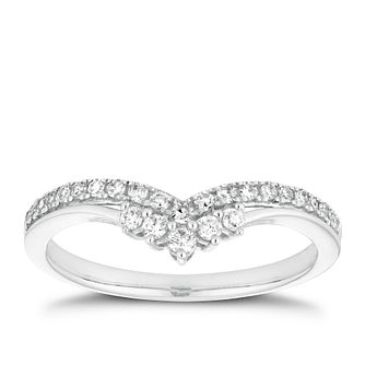 18ct White Gold 1/5ct Diamond Fancy Shape Ring - Product number 2929880