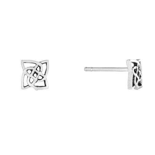 Sterling Silver Celtic Design Stud Earrings - Product number 2931443