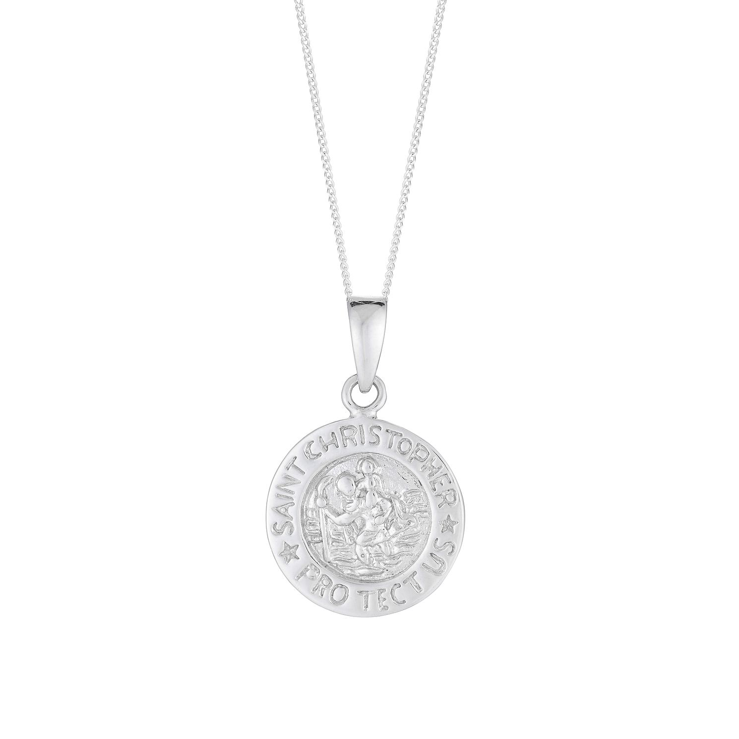 Sterling Silver Round St Christopher Pendant - Product number 2931737