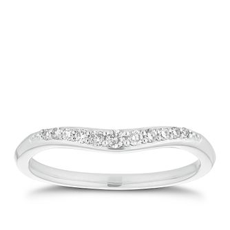 Platinum 1/10ct Diamond Shaped Ring - Product number 2933624
