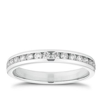 Platinum 1/3ct Channel Set Diamond Ring - Product number 2933772