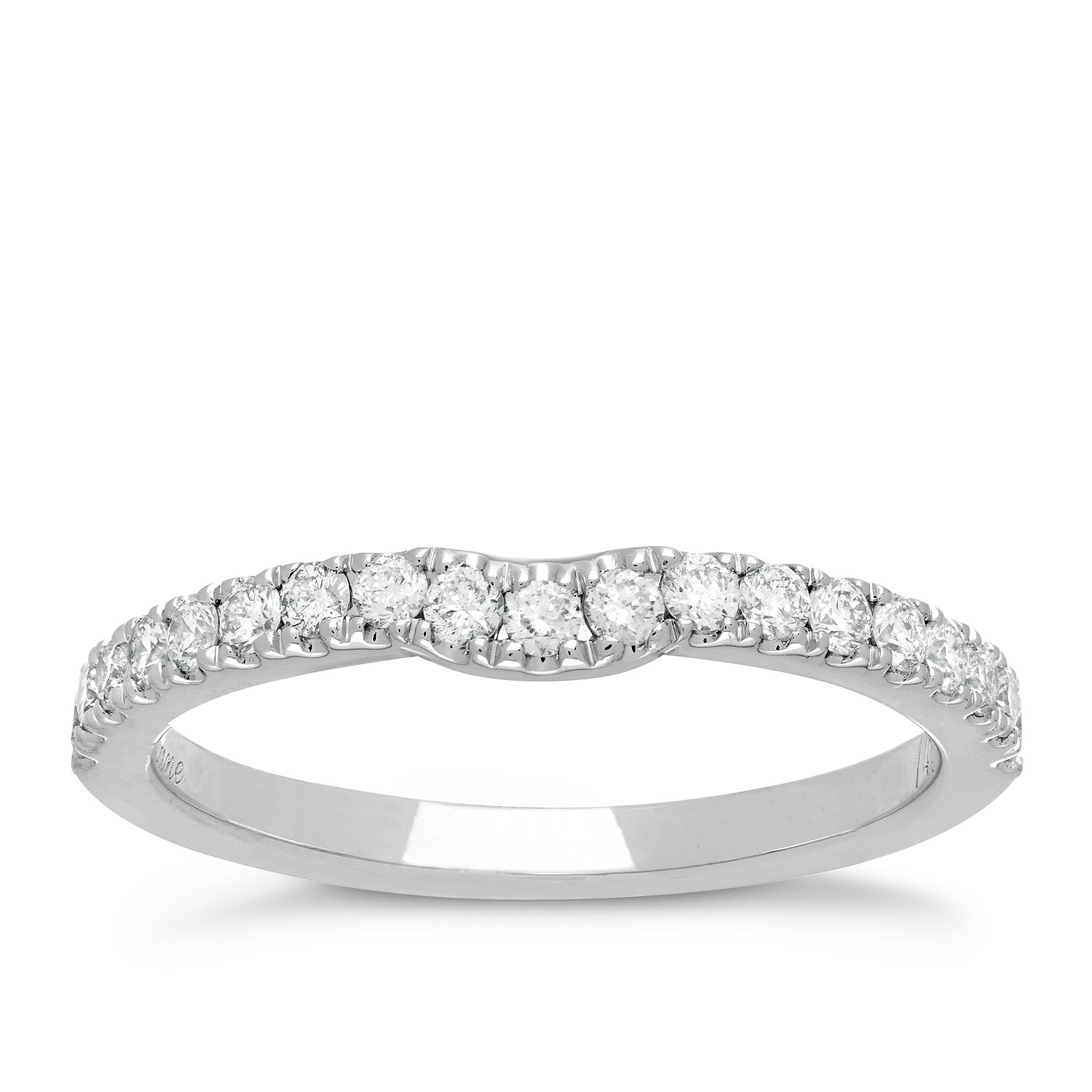 Neil Lane 14ct White Gold 35Pt Diamond Shaped Band - Product number 2934663