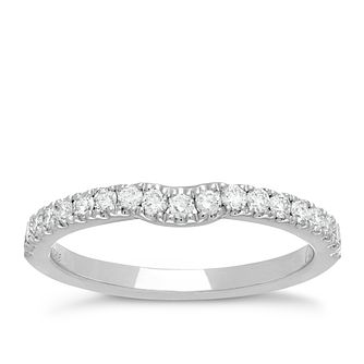 Neil Lane 14ct White Gold 0.35ct Diamond Shaped Band - Product number 2934663
