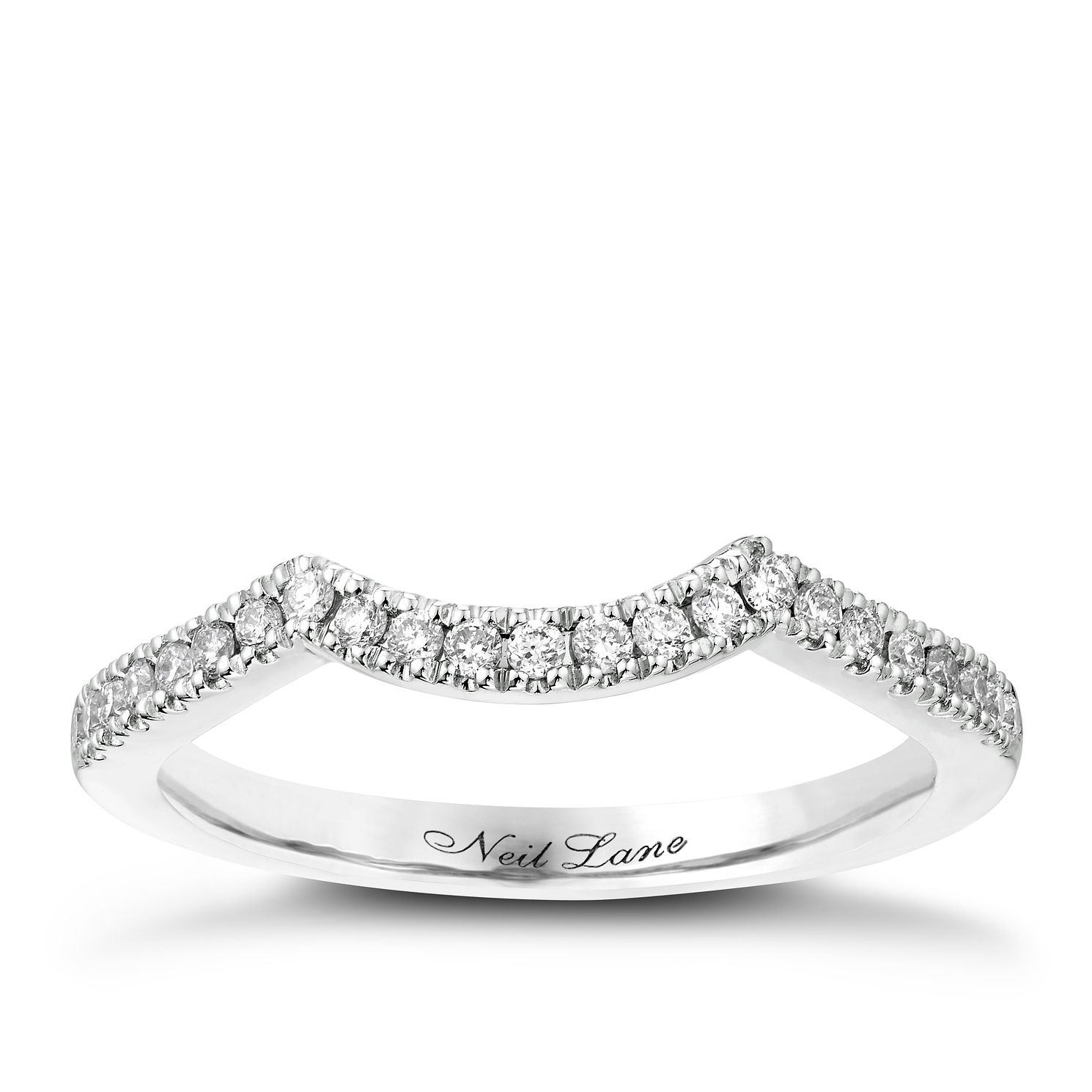 Neil Lane 14ct White Gold 0.16ct Diamond Shaped Band - Product number 2935457