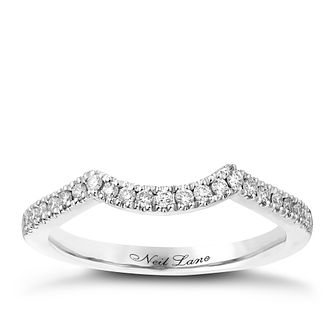 Neil Lane 14ct White Gold 16Pt Diamond Shaped Band - Product number 2935457
