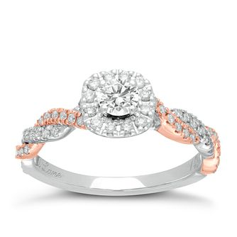 Neil Lane 14ct White & Rose Gold 0.53ct Total Diamond Ring - Product number 2935880