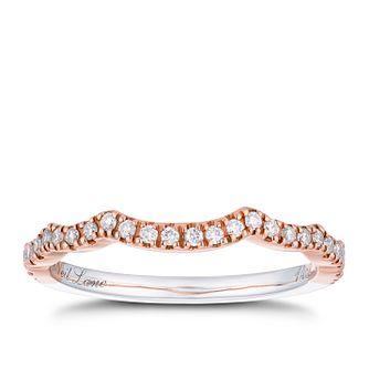 62791b931 Neil Lane 14ct White & Rose Gold 0.18ct Diamond Shaped Band - Product  number 2936038