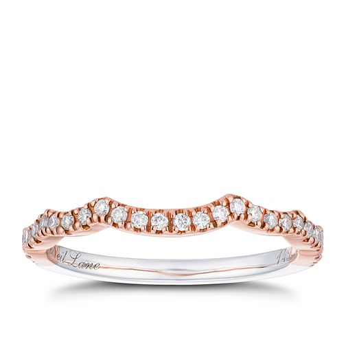 Neil Lane 14ct White & Rose Gold 0.18ct Diamond Shaped Band - Product number 2936038
