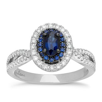 abd2554847552 Neil Lane 14ct white gold 0.35ct sapphire and diamond ring