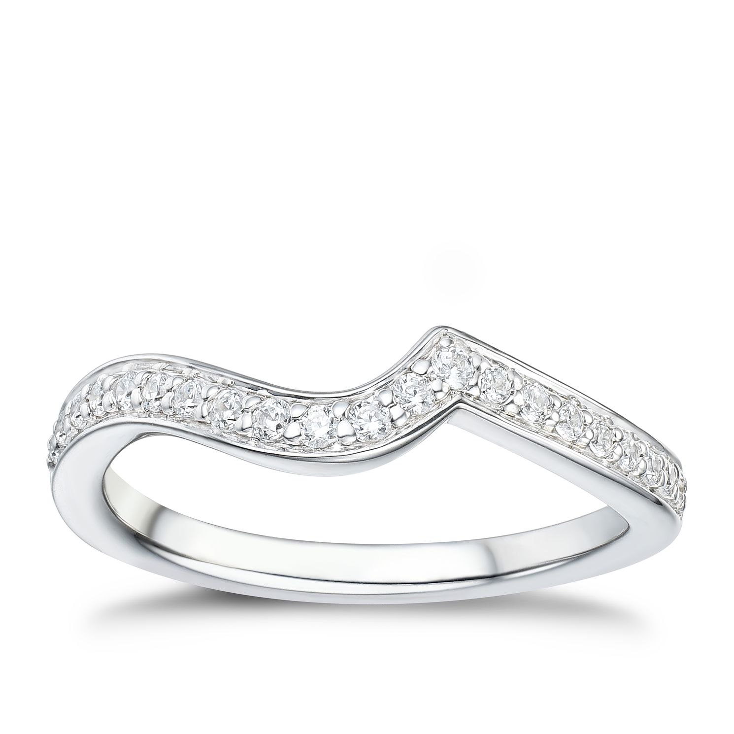 Tolkowsky 18ct White Gold 0.17ct Diamond Shaped Ring - Product number 2938197