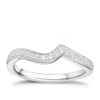 Tolkowsky 18ct White Gold 17ct Diamond Shaped Band - Product number 2938197