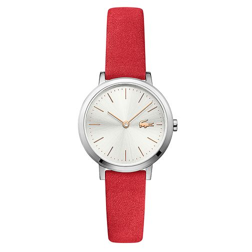 Lacoste Moon Small Ladies' Red Leather Strap Watch - Product number 2942119