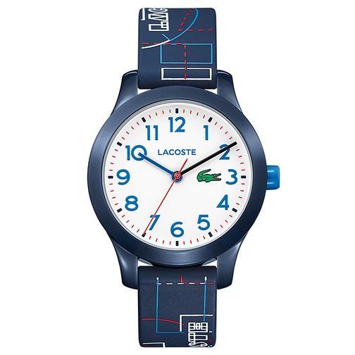 Lacoste 12.12 Children's Navy Printed Silicone Strap Watch - Product number 2942496