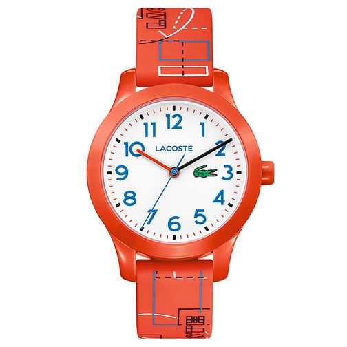 Lacoste 12.12 Children's Orange Printed Silicone Strap Watch - Product number 2942534