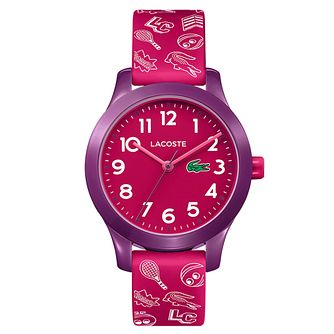 Lacoste 12.12 Children's Pink Printed Silicone Strap Watch - Product number 2942542
