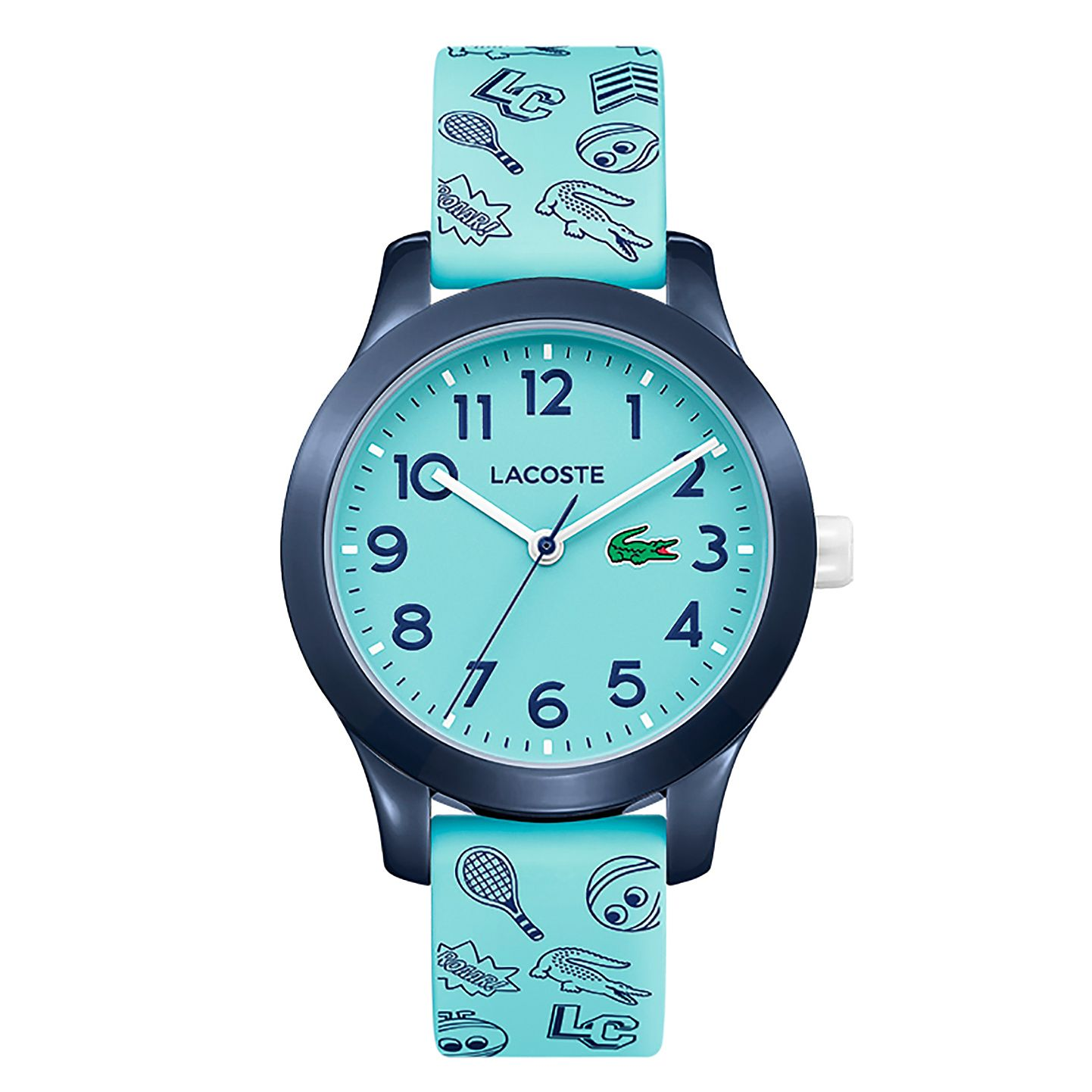 Lacoste 12.12 Children's Blue Printed Silicone Strap Watch - Product number 2942550