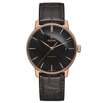 Rado Coupole Classic Men's Dark Brown Leather Strap Watch - Product number 2943883
