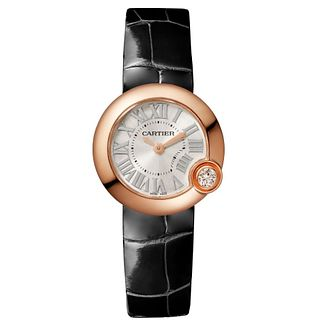 Cartier Ballon Blanc De Cartier Ladies' Black Strap Watch - Product number 2944596