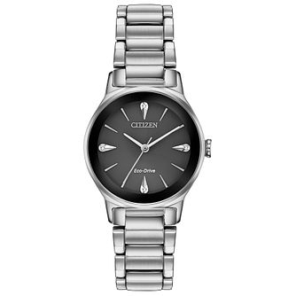 Citizen Ladies' Black Dial Stainless Steel Bracelet Watch - Product number 2948230