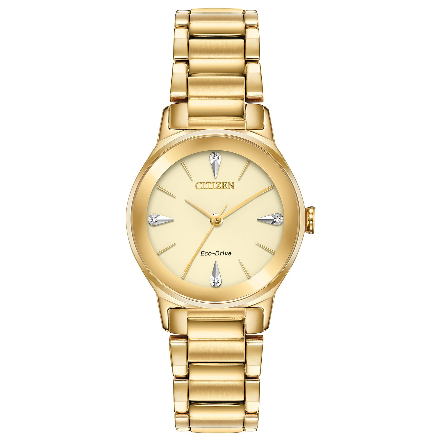 Citizen Axiom Ladies' Gold Plated Bracelet Watch - Product number 2948249