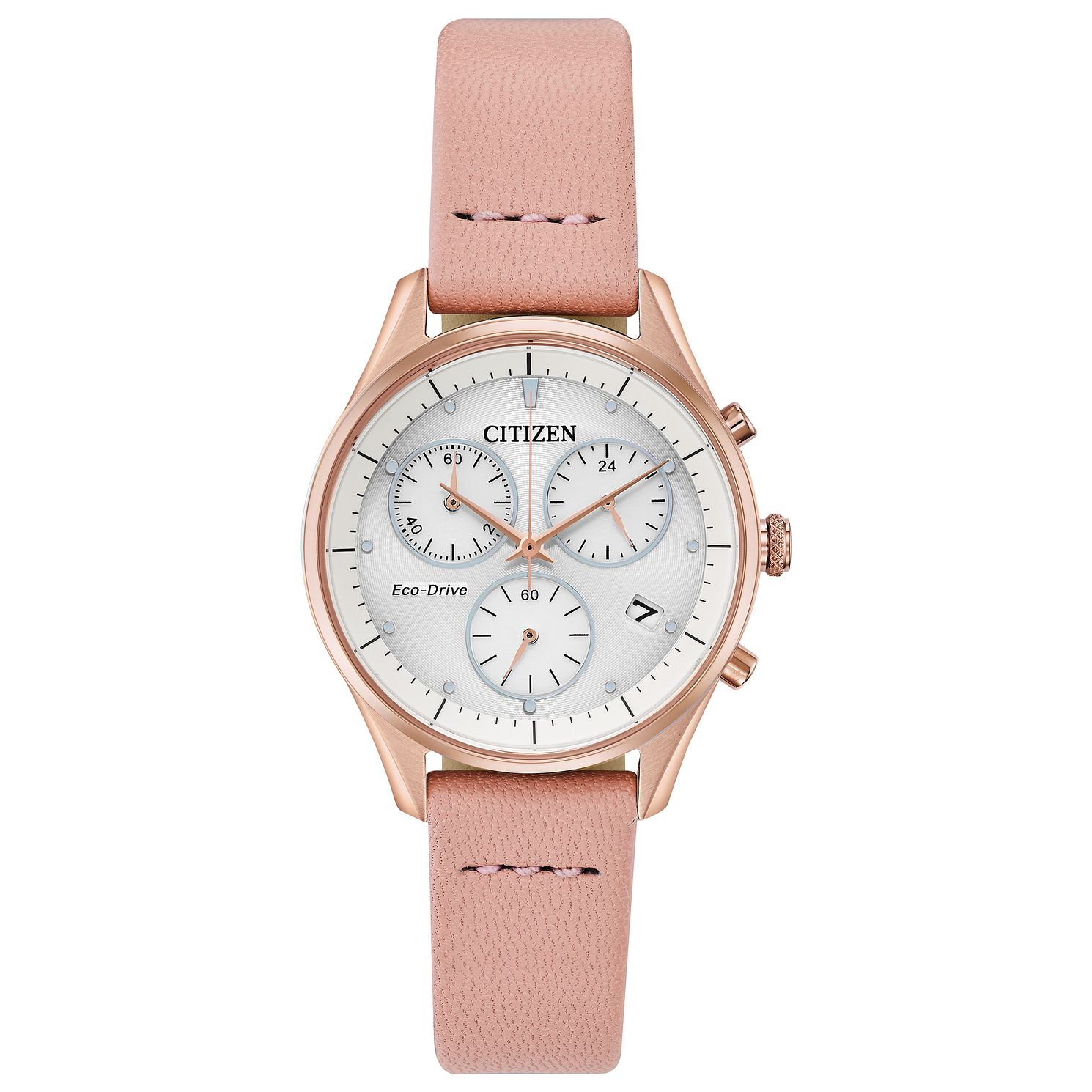 Citizen Silhouette Ladies' Pink Leather Strap Watch - Product number 2948257
