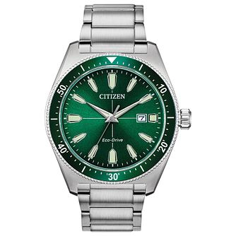 Citizen Men's Green Dial Stainless Steel Bracelet Watch - Product number 2948346
