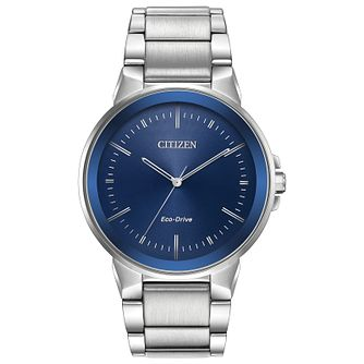 Citizen Axiom Men's Blue Dial Stainless Steel Bracelet Watch - Product number 2948354