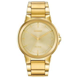Citizen Axiom Men's Gold Plated Bracelet Watch - Product number 2948362