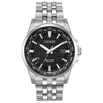 Citizen Men's Black Dial Stainless Steel Bracelet Watch - Product number 2948400