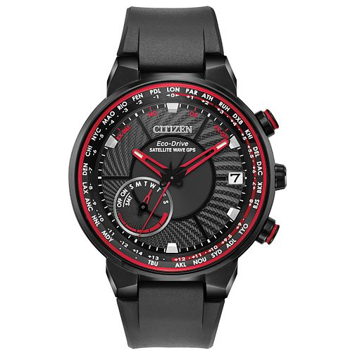 Citizen Men's Red Accented Dial Black Resin Strap Watch - Product number 2948427