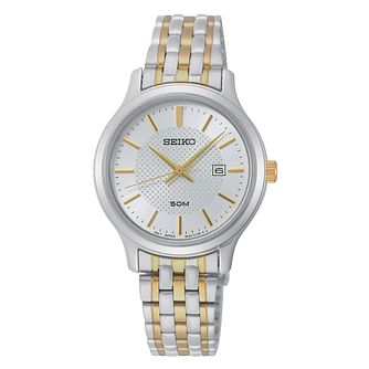 Seiko Ladies' White Dial Two Tone Bracelet Watch - Product number 2948435