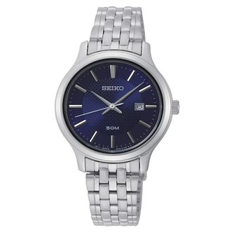 Seiko Ladies' Blue Dial Stainless Steel Bracelet Watch - Product number 2948443