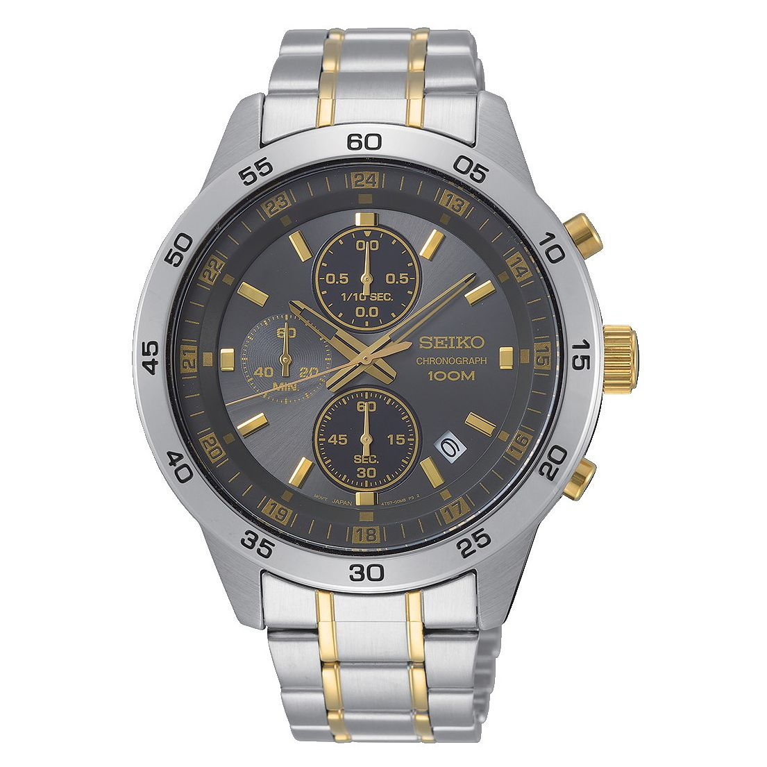 Seiko Men's Grey Chronograph Dial Two Tone Bracelet Watch - Product number 2948478