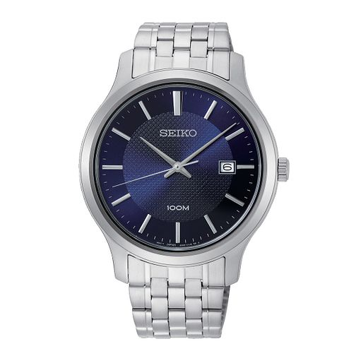 Seiko Men's Blue Dial Stainless Steel Bracelet Watch - Product number 2948508