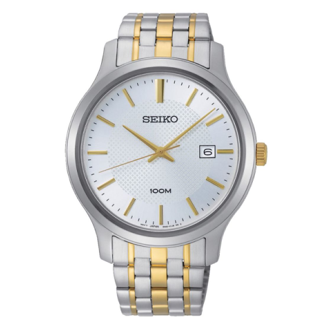 Seiko Men's White Dial Two Tone Bracelet Watch - Product number 2948516