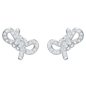 Swarovski Lifelong Bow Rhodium Plated Stud Earrings - Product number 2948680
