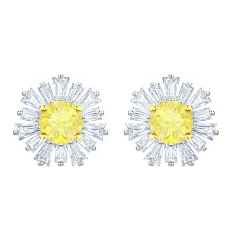 Swarovski Ladies' Rhodim Plated Sunshine Stud Earrings - Product number 2948729