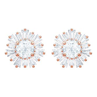 Swarovski Ladies' Rose Gold Plated Sunshine Stud Earrings - Product number 2948737