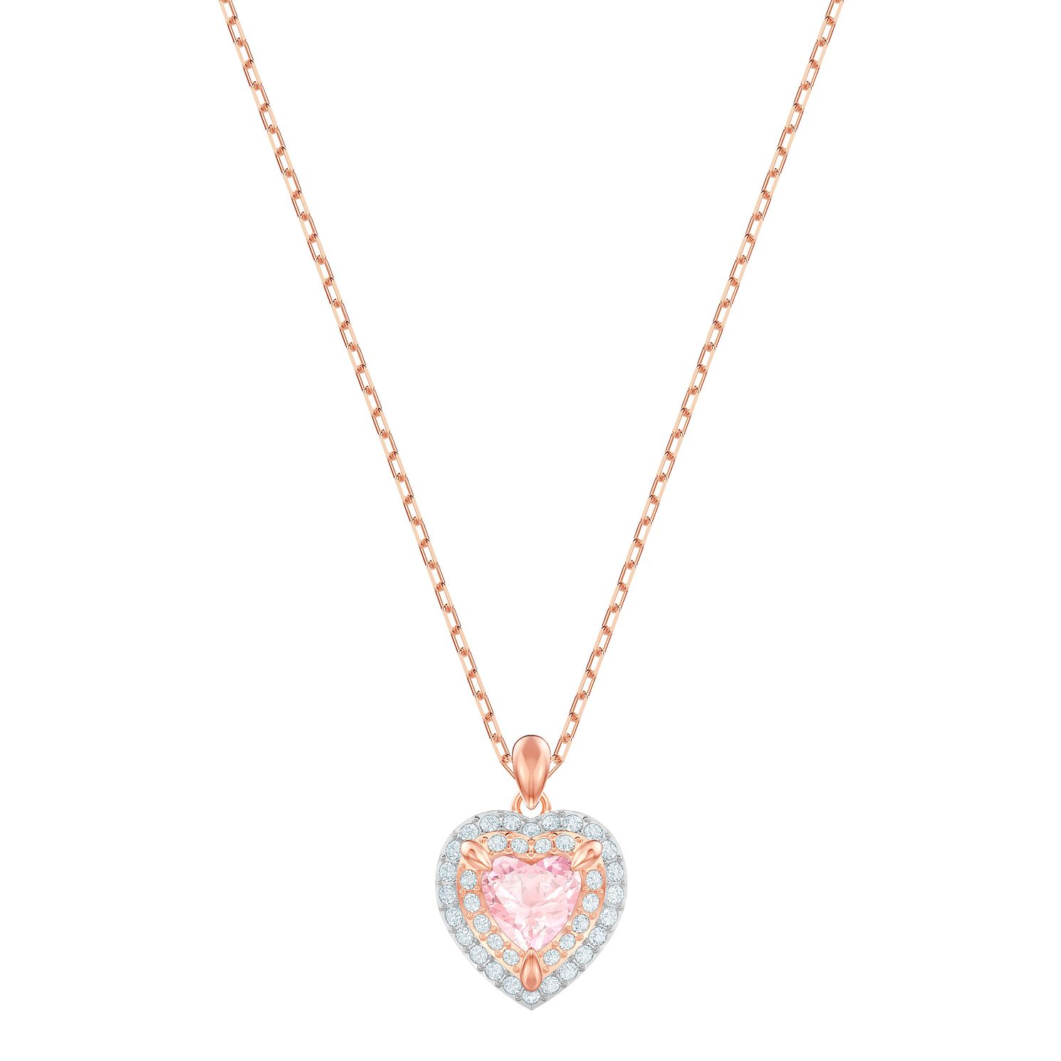 Swarovski One Rose Gold Plated Heart Pendant - Product number 2948761