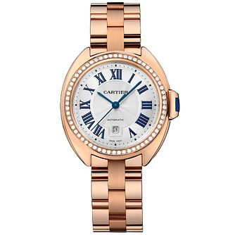 Cartier Cle Ladies' 18ct Rose Gold Bracelet Watch - Product number 2948885
