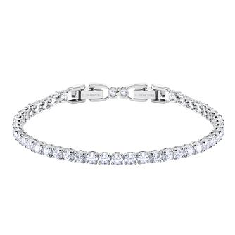 Swarovski Rhodium Plated Deluxe Tennis Bracelet - Product number 2949237