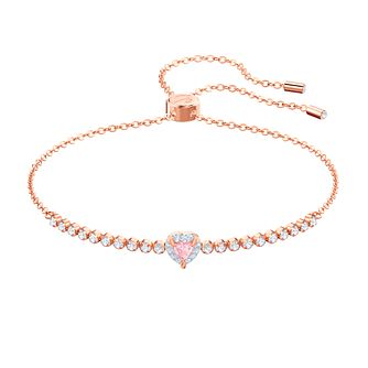 Swarovski One Rose Gold Plated Bracelet - Product number 2949245