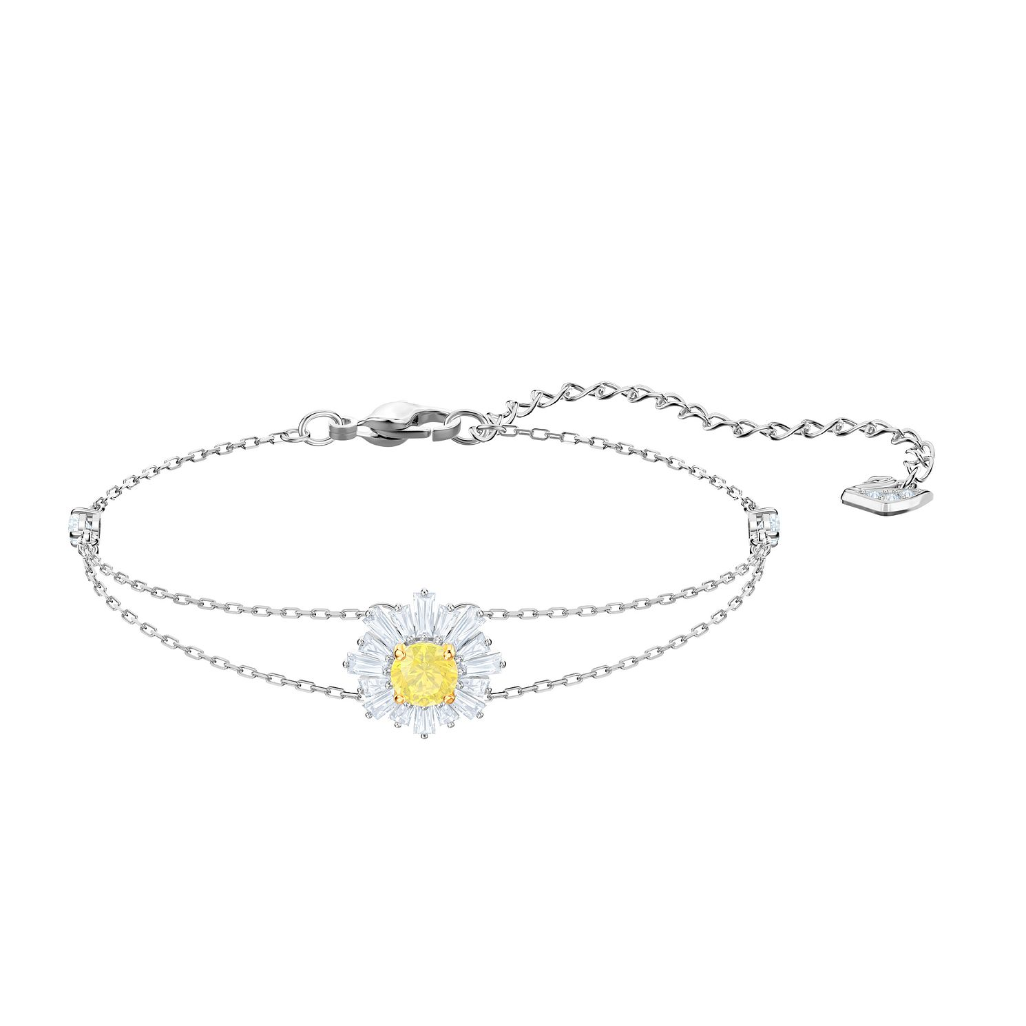 Swarovski Ladies' Rhodium Plated Sunshine Bracelet - Product number 2949407