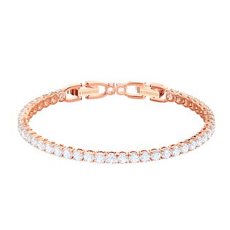 Swarovski Rose Gold Plated Deluxe Tennis Bracelet - Product number 2949415