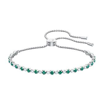 Swarovski Subtle Rhodium Plated Green Crystal Bracelet - Product number 2949423